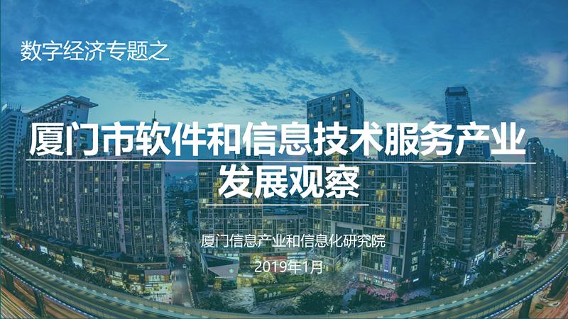 厦门市软件和信息技术服务产业发展观察
